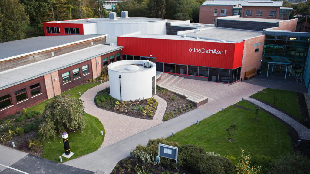 Aerial view of the Arts Centre